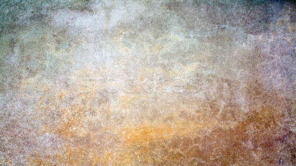 Grunge parede detalhado colorido Foto stock © Artida