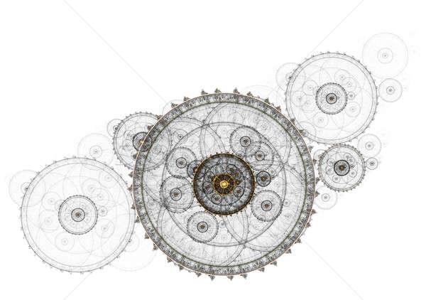 Ancient mechanism, metallic clockwork Stock photo © Artida