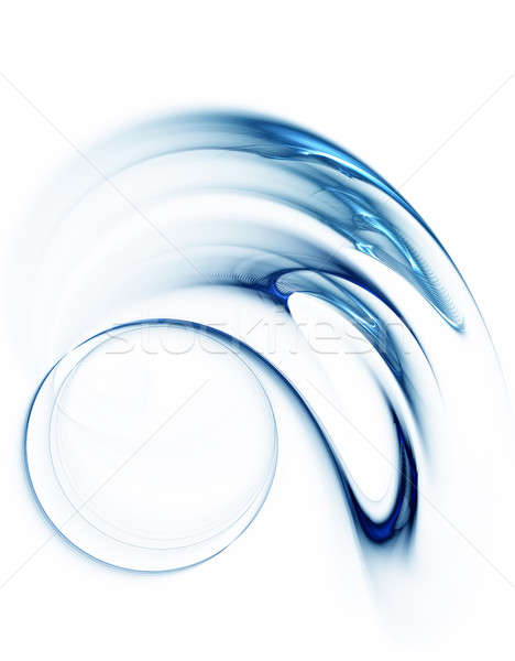 blue circle in speedy motion, rotating Stock photo © Artida