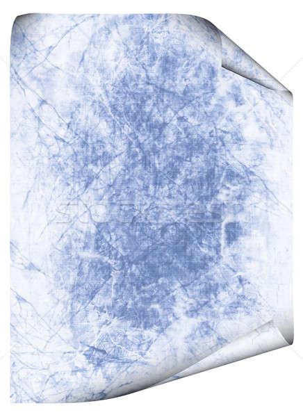 Niebieski antyczne papieru tekstury odizolowany Zdjęcia stock © Artida