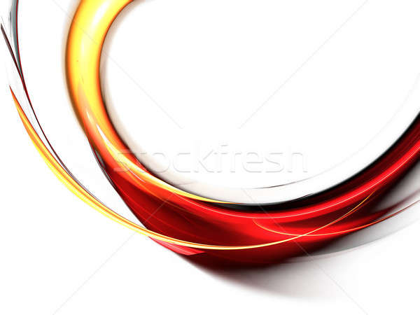 Czerwony streszczenie fale biały ilustracja falisty Zdjęcia stock © Artida