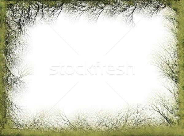 抽象的な 春 自然 国境 緑 ストックフォト © Artida