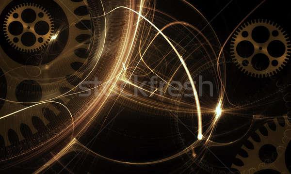 メカニズム 古代 黒 古い ストックフォト © Artida