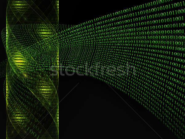 Dna binaire code genetisch futuristische fictie geneeskunde Stockfoto © Artida