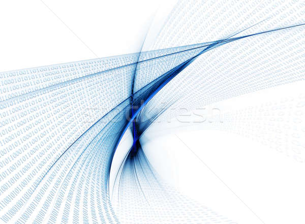 binary code data flow, communication Stock photo © Artida