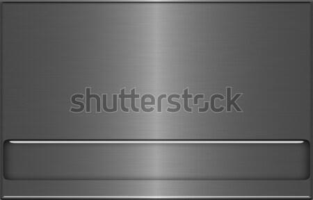 стали металл серый нержавеющая сталь алюминий пластина Сток-фото © Artida