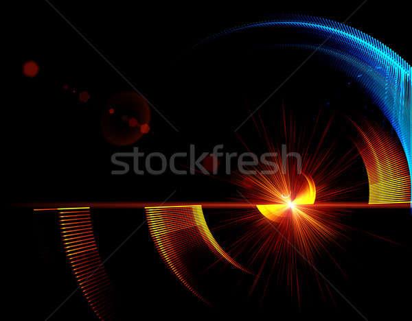 Mecanismo rotación resumen ilustración azul rojo Foto stock © Artida
