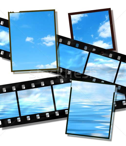 Film strip filme placas verão imagem alto Foto stock © Artida