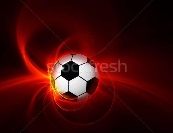 Ateşli top siyah yanan örnek futbol Stok fotoğraf © Artida