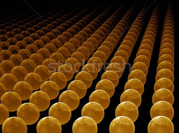 golden orbs horizon Stock photo © Artida