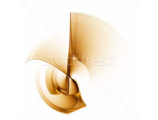 Dynamiczny złoty ruchu streszczenie ilustracja narzędzi Zdjęcia stock © Artida