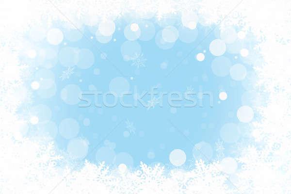 кадр зима сезонный счастливым природы Сток-фото © Artida