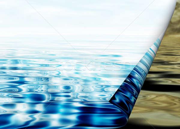 environmental concept, water protection Stock photo © Artida