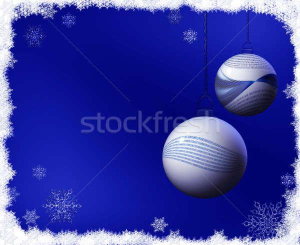 バイナリコード クリスマス 雪 フレーム 装飾 ストックフォト © Artida
