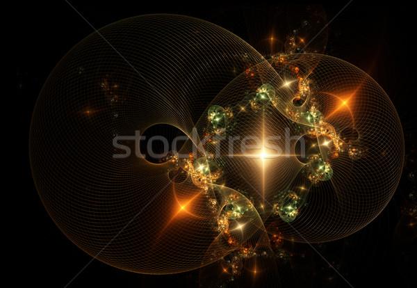 Foto stock: Férias · dourado · vermelho · verde · abstrato