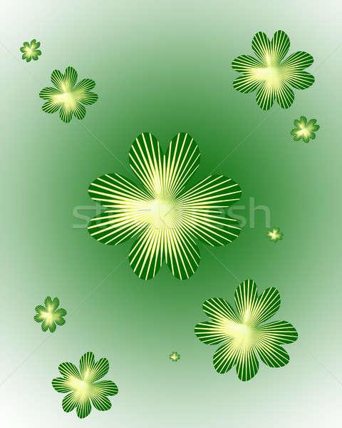Shamrock streszczenie zielone roślin uroczystości obiektu Zdjęcia stock © Artida