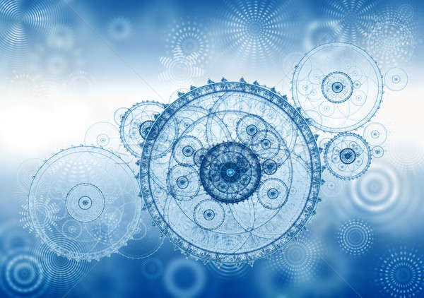 business metaphor, ancient mechanism, clockwork Stock photo © Artida