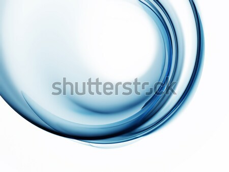 Blue circular abstract motion on white background Stock photo © Artida