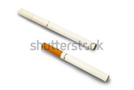 Elektronik sigara iki yalıtılmış beyaz teknoloji Stok fotoğraf © Artida