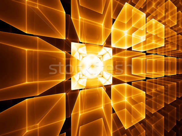 golden cubic perspective Stock photo © Artida