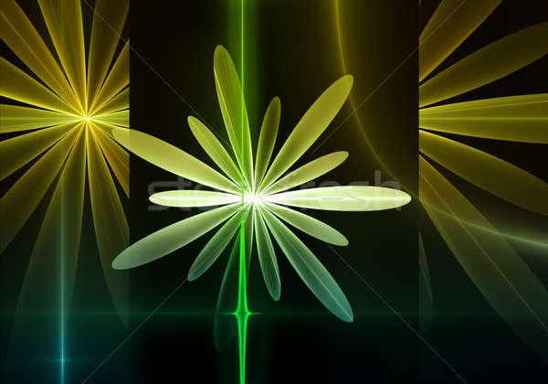 Photo stock: Printemps · floral · jaune · vert · fleurs · coloré