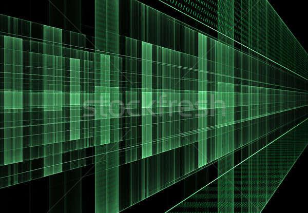 Internet bináris kód adat áramlás mátrix zöld Stock fotó © Artida