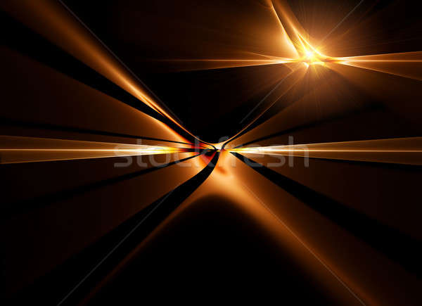 golden horizon stretching off to infinity          Stock photo © Artida