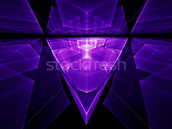 ultra violet geometrical perspective Stock photo © Artida