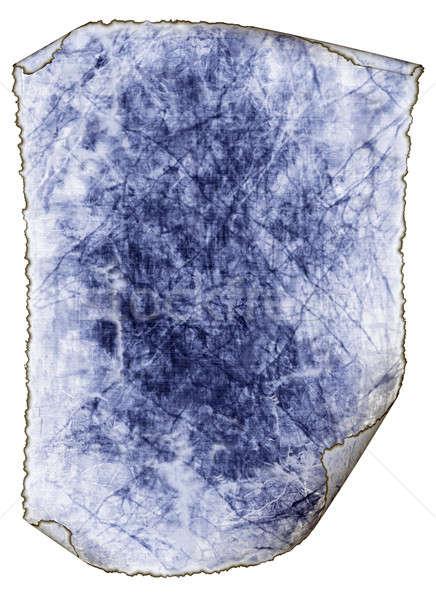 Mavi antika kâğıt doku yalıtılmış Stok fotoğraf © Artida