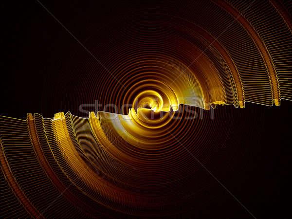 Rotáció arany viselet körkörös absztrakt mozgás Stock fotó © Artida