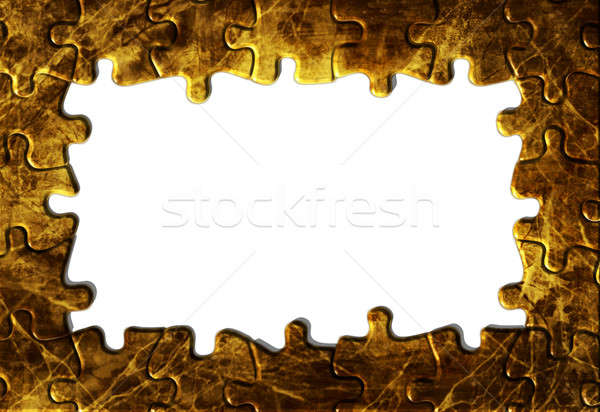 ヴィンテージ グランジ 紙 パズル 国境 ストックフォト © Artida