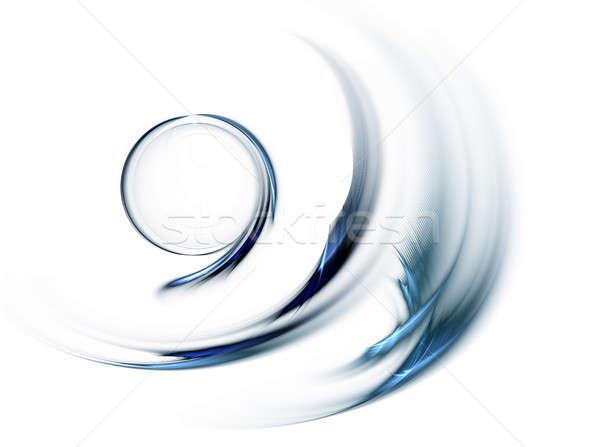Kék kör gyors mozgás körkörös fehér Stock fotó © Artida