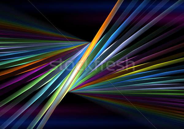радуга черный перспективы яркий цвета Трубы Сток-фото © Artida
