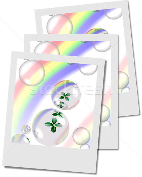 Shamrock пузырьки радуга фото кадры Сток-фото © Artida