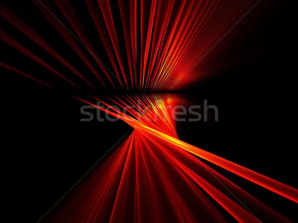 ストックフォト: 赤 · 抽象的な · 実例 · 黒 · 技術