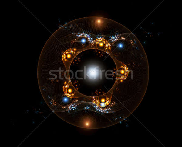 Holiday golden and blue ornaments Stock photo © Artida