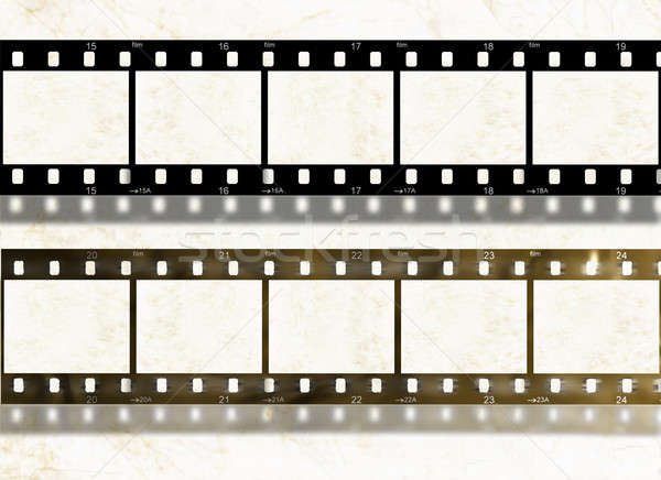 Blank film stripes, old and new, design elements Stock photo © Artida