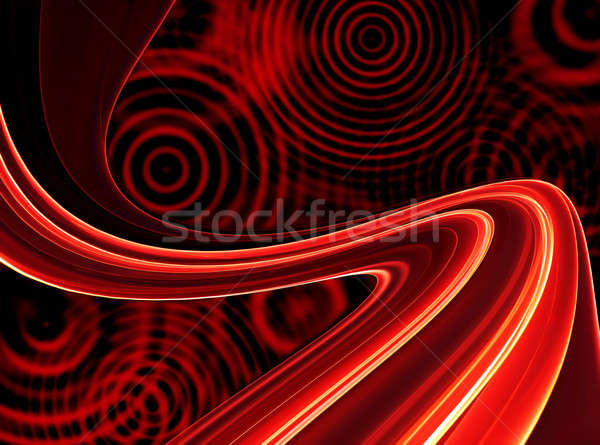 Retro rojo fondos círculos funky resumen Foto stock © Artida