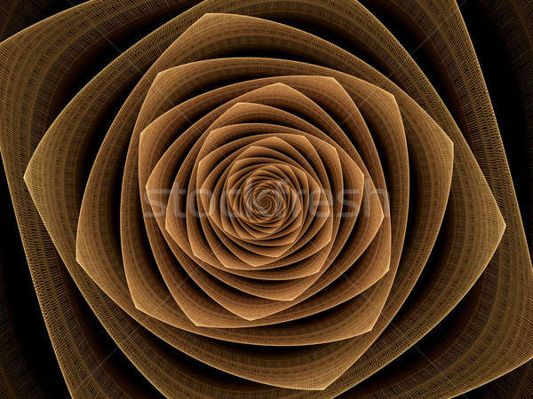 abstract illustration of golden tunnel, time vortex  Stock photo © Artida