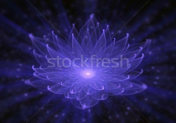 Water Lily, Radiant Blue Lotus with Rays of Light Stock photo © Artida