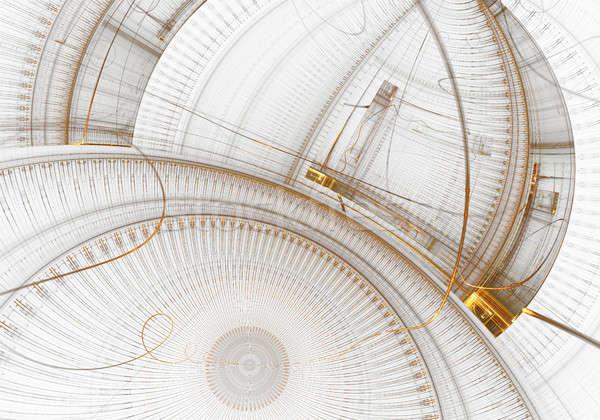 古い 金属 ギア ホイール クロック メカニズム ストックフォト © Artida