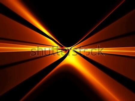 Ognisty czerwony horyzoncie nieskończoność Zdjęcia stock © Artida
