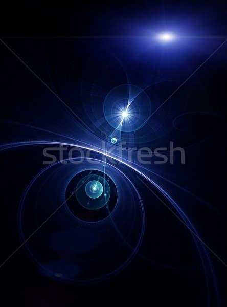 青 惑星 日光 光 スペース 宇宙 ストックフォト © Artida