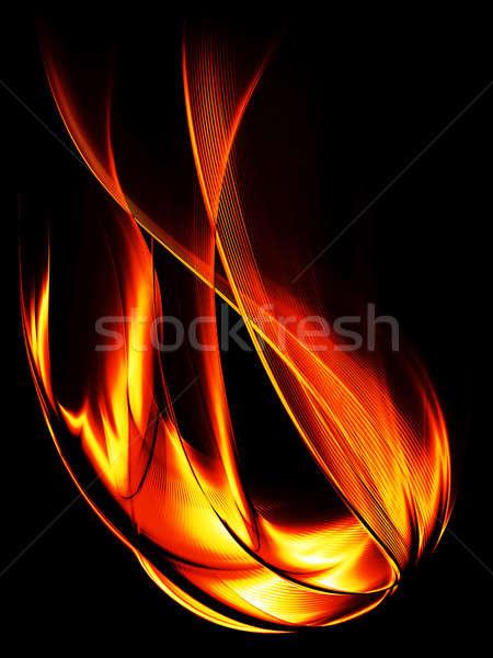 炎のような 難 黒 燃焼 抽象的な 実例 ストックフォト © Artida
