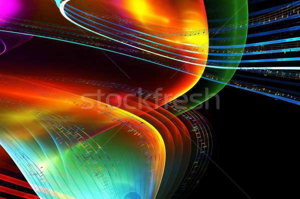 Hangjegyek színes illusztráció fekete musical tánc Stock fotó © Artida
