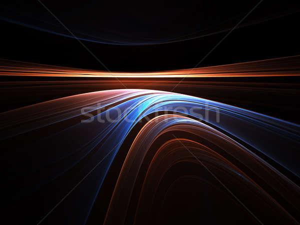 カラフル 抽象的な 実例 黒 ストレッチング ストックフォト © Artida