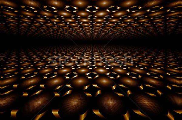 Chocolate perspective             Chocolate horizon fractal Stock photo © Artida
