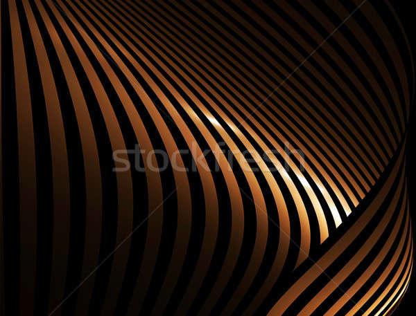 Altın rays soyut ışık teknoloji Stok fotoğraf © Artida
