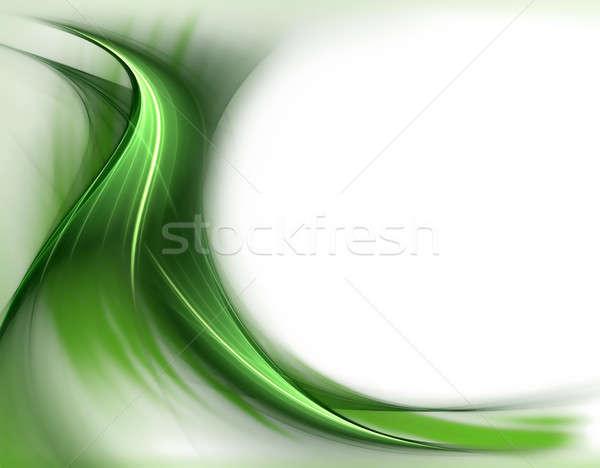 элегантный волнистый зеленый весны белый копия пространства Сток-фото © Artida