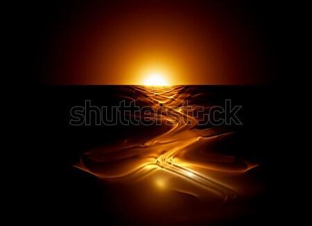 Sıcak nehir lav volkan Stok fotoğraf © Artida
